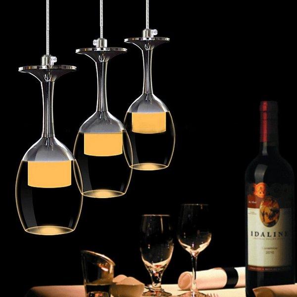 Hängelampe KJLARS 3W X 3 Weinglas LED