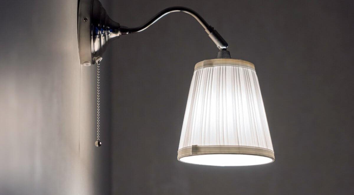 Optimale Montage einer Wandlampe