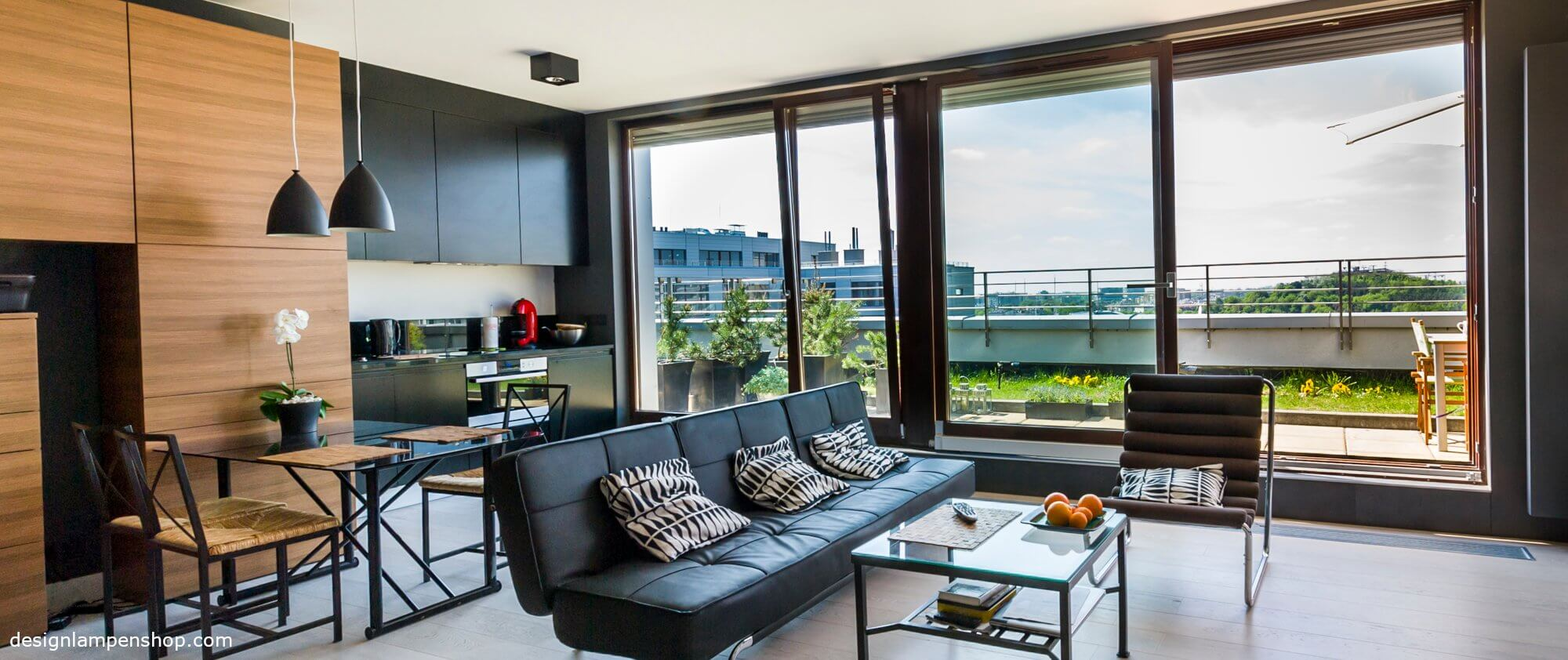 Design Pendelleuchte in stylischer Wohnung