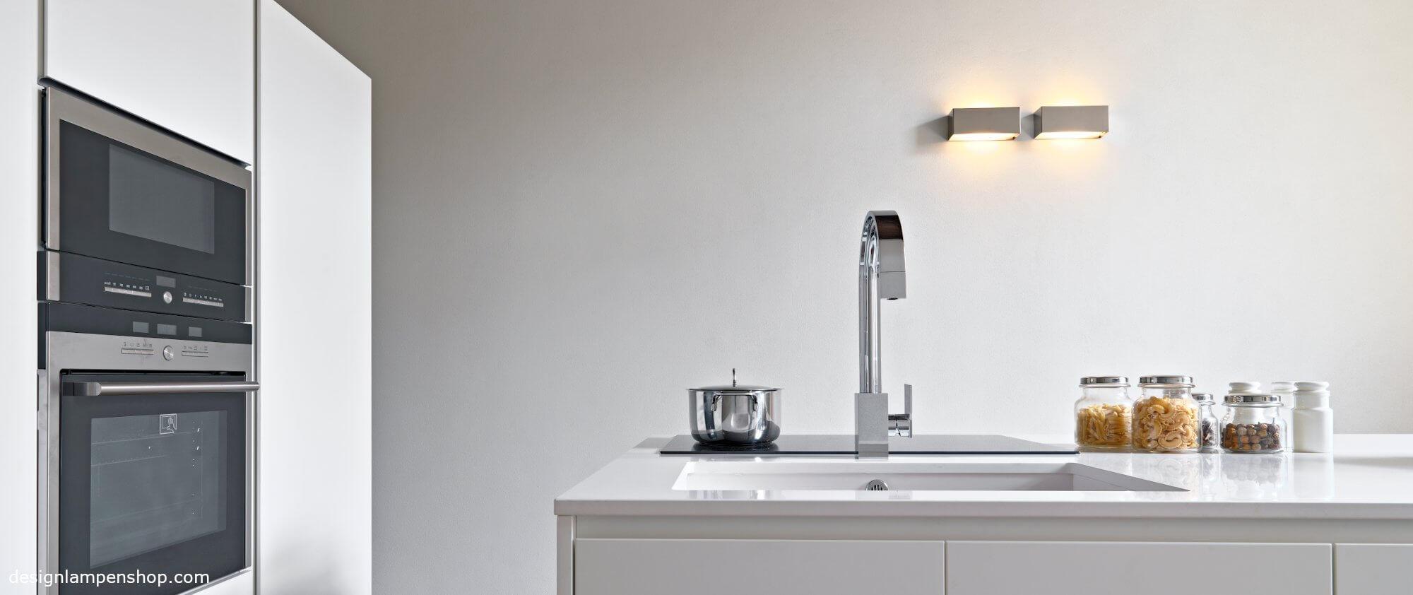 Wandlampe in der Küche